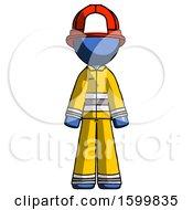 Blue Firefighter Fireman Man Standing Facing Forward