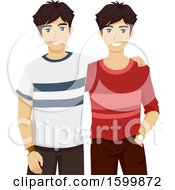 Teen Twin Guys Wearing Different Cothes