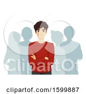 Poster, Art Print Of Teen Guy Leader