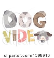 Clipart Of A Dog Video Text Design Royalty Free Vector Illustration