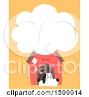 Clipart Of A Dog Dreaming In His House Royalty Free Vector Illustration