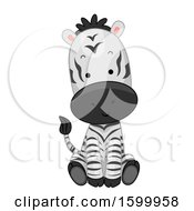 Cute Sitting Zebra