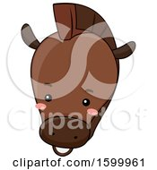 Clipart Of A Cute Horse Face Royalty Free Vector Illustration