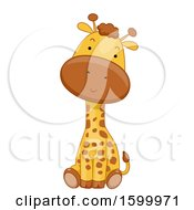 Cute Sitting Giraffe