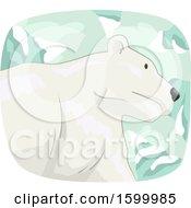 Polar Bear Over Snow Capped Mountains