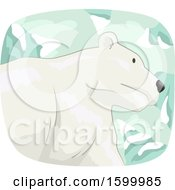 Poster, Art Print Of Polar Bear Over Snow Capped Mountains