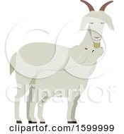 Poster, Art Print Of Mamma Nanny Goat And Baby Kid