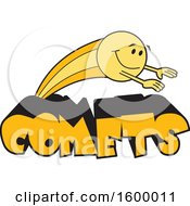 Clipart Of A Comet School Mascot Royalty Free Vector Illustration