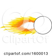 Clipart Of A Shooting Comet With A Blank Frame Royalty Free Vector Illustration