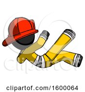 Black Firefighter Fireman Man Falling Backwards