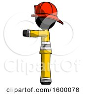 Black Firefighter Fireman Man Pointing Left