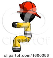 Black Firefighter Fireman Man Sitting Or Driving Position