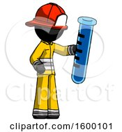 Black Firefighter Fireman Man Holding Large Test Tube