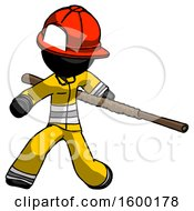 Black Firefighter Fireman Man Bo Staff Action Hero Kung Fu Pose