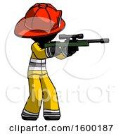 Black Firefighter Fireman Man Shooting Sniper Rifle