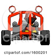 Black Firefighter Fireman Man Riding Sports Buggy Front View