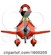 Poster, Art Print Of Black Firefighter Fireman Man In Geebee Stunt Plane Front View