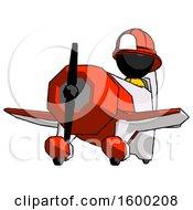 Poster, Art Print Of Black Firefighter Fireman Man Flying In Geebee Stunt Plane Viewed From Below