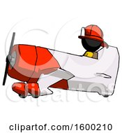 Poster, Art Print Of Black Firefighter Fireman Man In Geebee Stunt Aircraft Side View
