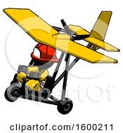 Poster, Art Print Of Black Firefighter Fireman Man In Ultralight Aircraft Top Side View