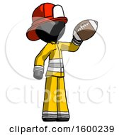 Black Firefighter Fireman Man Holding Football Up