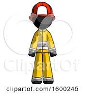 Black Firefighter Fireman Man Standing Facing Forward