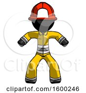 Black Firefighter Fireman Male Sumo Wrestling Power Pose