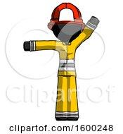 Black Firefighter Fireman Man Directing Traffic Left