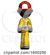 Black Firefighter Fireman Man Walking Front View