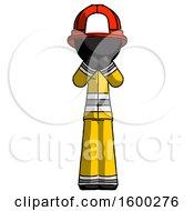 Black Firefighter Fireman Man Laugh Giggle Or Gasp Pose