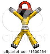 Black Firefighter Fireman Man Jumping Or Flailing