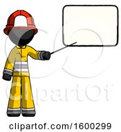 Black Firefighter Fireman Man Giving Presentation In Front Of Dry Erase Board