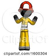 Black Firefighter Fireman Man Shrugging Confused