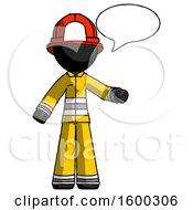 Black Firefighter Fireman Man With Word Bubble Talking Chat Icon