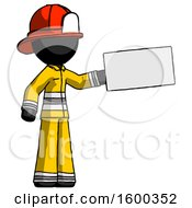 Black Firefighter Fireman Man Holding Large Envelope