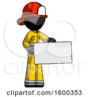 Black Firefighter Fireman Man Presenting Large Envelope