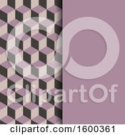 Clipart Of A Purple Isometric Geometric Background Royalty Free Vector Illustration