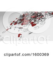 Clipart Of A Background Of 3d Social Media Metal Hearts Royalty Free Illustration
