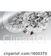 Clipart Of A Background Of 3d Social Media Paper Planes Royalty Free Illustration