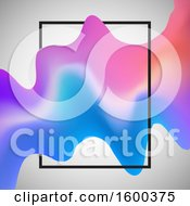 Clipart Of A Colorful Fluid Wave And Frame Royalty Free Vector Illustration
