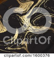 Clipart Of A Gold And Black Marble Background Royalty Free Vector Illustration