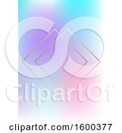 Clipart Of A Gradient Background With Gold Diamonds Royalty Free Vector Illustration