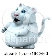 July 15th, 2018: Clipart Of A 3d White Kitty Cat On A White Background Royalty Free Illustration by Julos