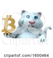 July 15th, 2018: Clipart Of A 3d White Kitty Cat Holding A Bitcoin Symbol On A White Background Royalty Free Illustration by Julos