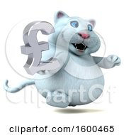 July 15th, 2018: Clipart Of A 3d White Kitty Cat Holding A Pound Currency Symbol On A White Background Royalty Free Illustration by Julos