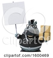 July 15th, 2018: Clipart Of A 3d Business Zebra Holding Boxes On A White Background Royalty Free Illustration by Julos