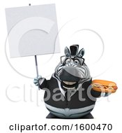 Clipart Of A 3d Business Zebra Holding A Hot Dog On A White Background Royalty Free Illustration