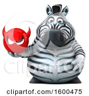 July 15th, 2018: Clipart Of A 3d Zebra Holding A Devil On A White Background Royalty Free Illustration by Julos