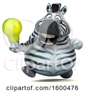 July 15th, 2018: Clipart Of A 3d Zebra Holding A Light Bulb On A White Background Royalty Free Illustration by Julos
