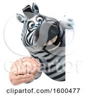 July 15th, 2018: Clipart Of A 3d Zebra Holding A Brain On A White Background Royalty Free Illustration by Julos
